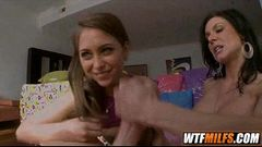 Riley Reid &amp_ Kendra Lust Threesome with a MILF and petite younger girl 06 001