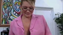 glasses MILF likes the taste of cock 1 002