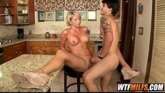 Blonde MILF with big jugs 7 001