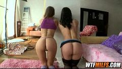 Threesome MILF mother and petite younger girl Riley Reid and Kendra Lust 03
