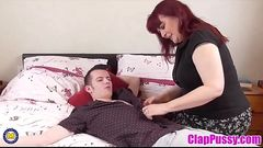 ClapPussy.com - Mature British big mom seduce young lucky son