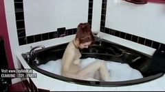 Redhead In Bubble Bath