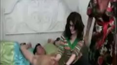 Thefamilysextube.com--mom purnishing her son by making his own sister suck his cock and ride him