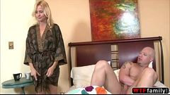 Horny stepmom Payton Leigh gets fucked by her stepson nice and wild