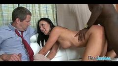 Watching mom fuck a black guy 024