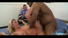 Mom makes son watch her get fucked by big black cock 240