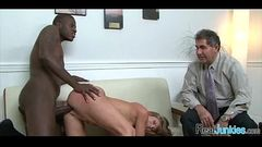 Watching mom fuck a black guy 195